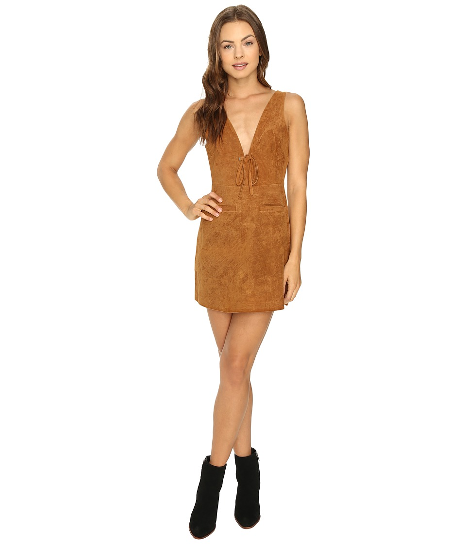 Capulet - Tie Front Mini Dress (Cognac) Women's Dress