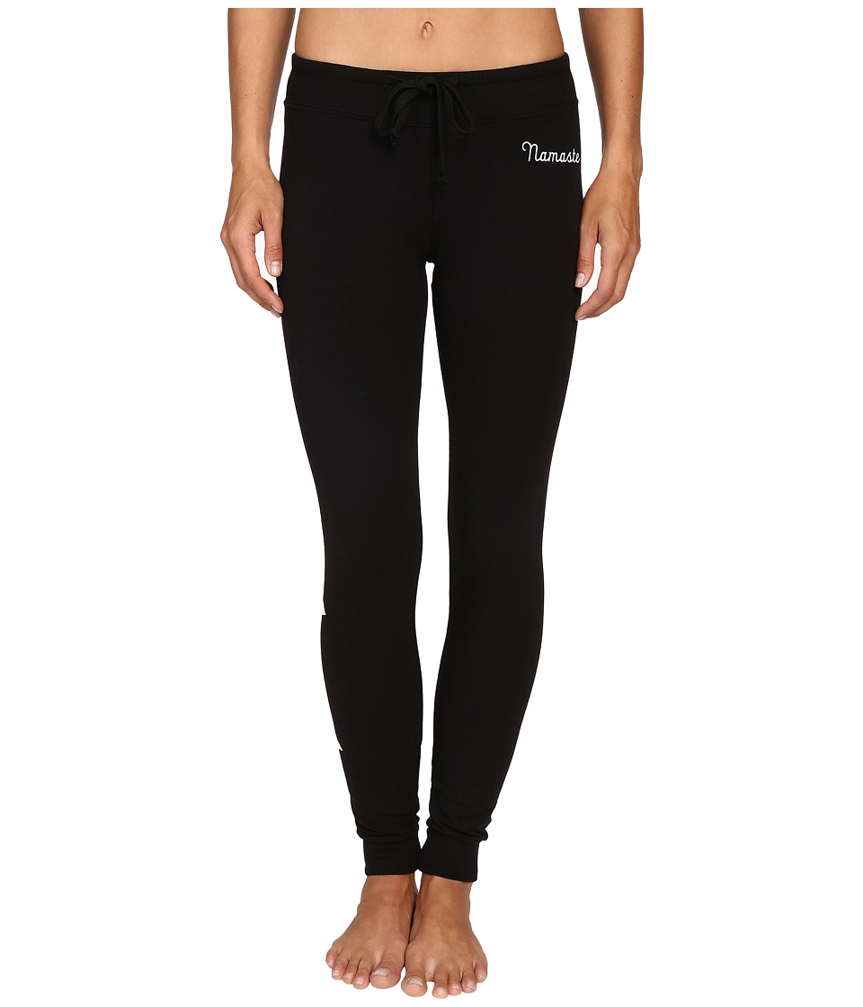 Spiritual Gangster - Namaste Stars Muse Pants (Black) Women's Casual Pants