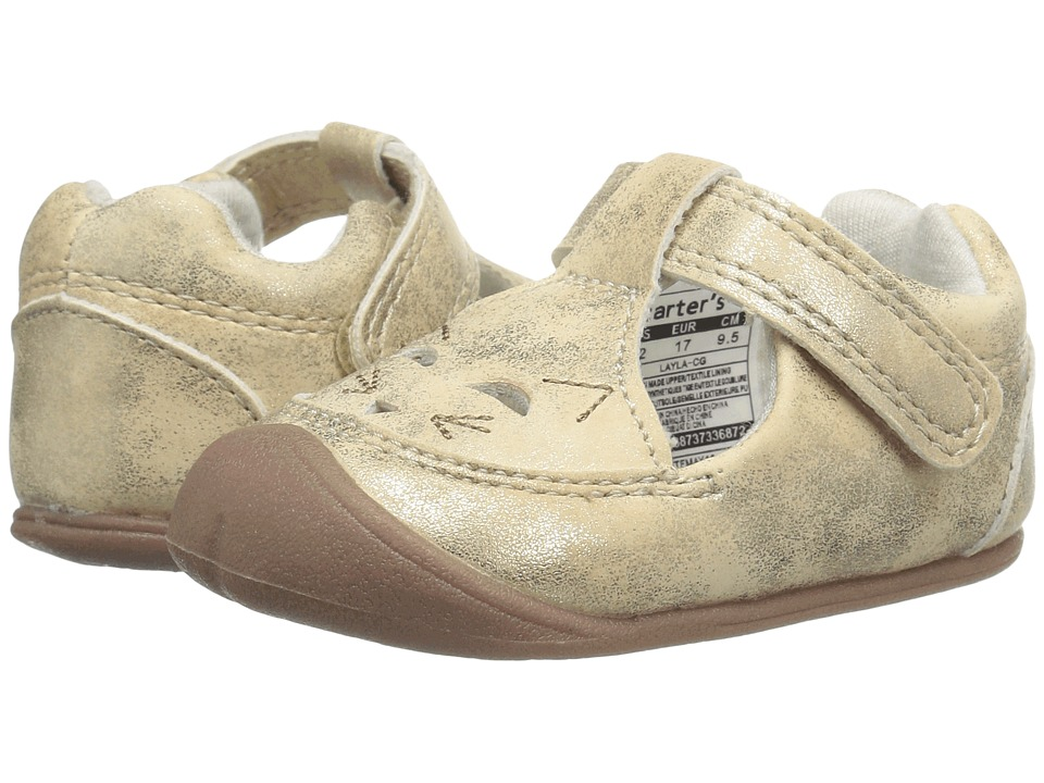 Carters - Layla (Infant) (Gold) Girl's Shoes
