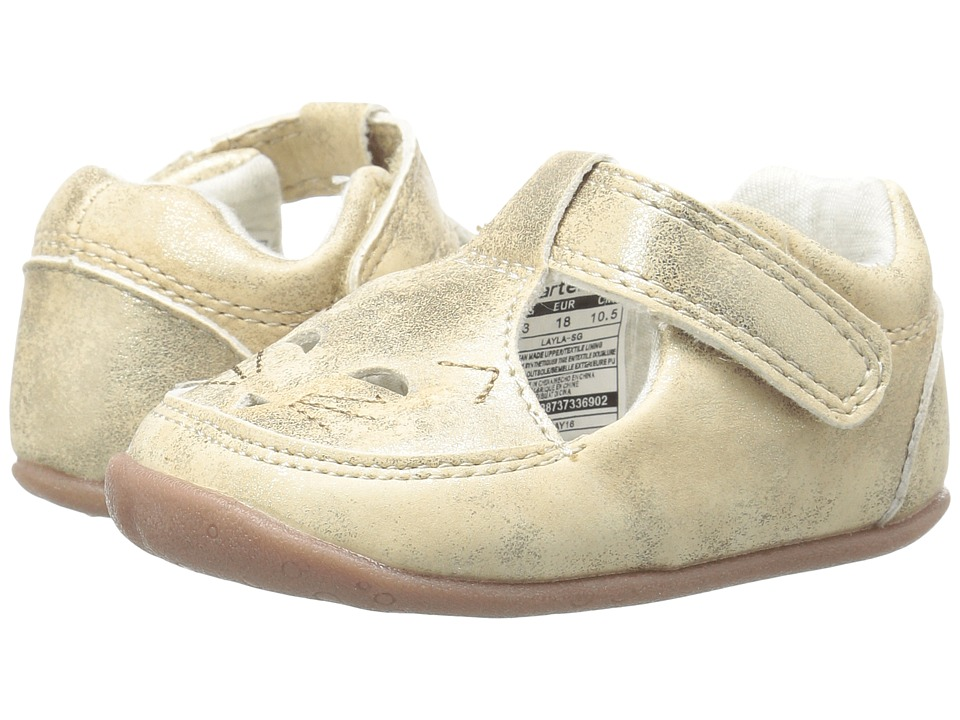 Carters - Layla SG (Infant/Toddler) (Gold) Girl's Shoes