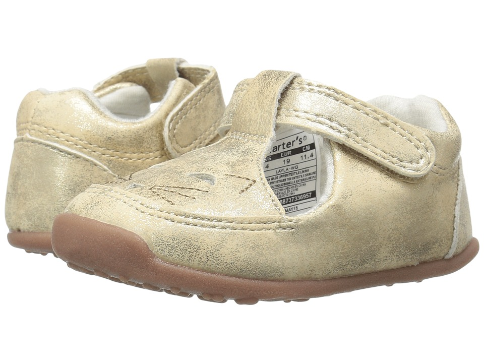 Carters - Layla WG (Toddler) (Gold) Girl's Shoes