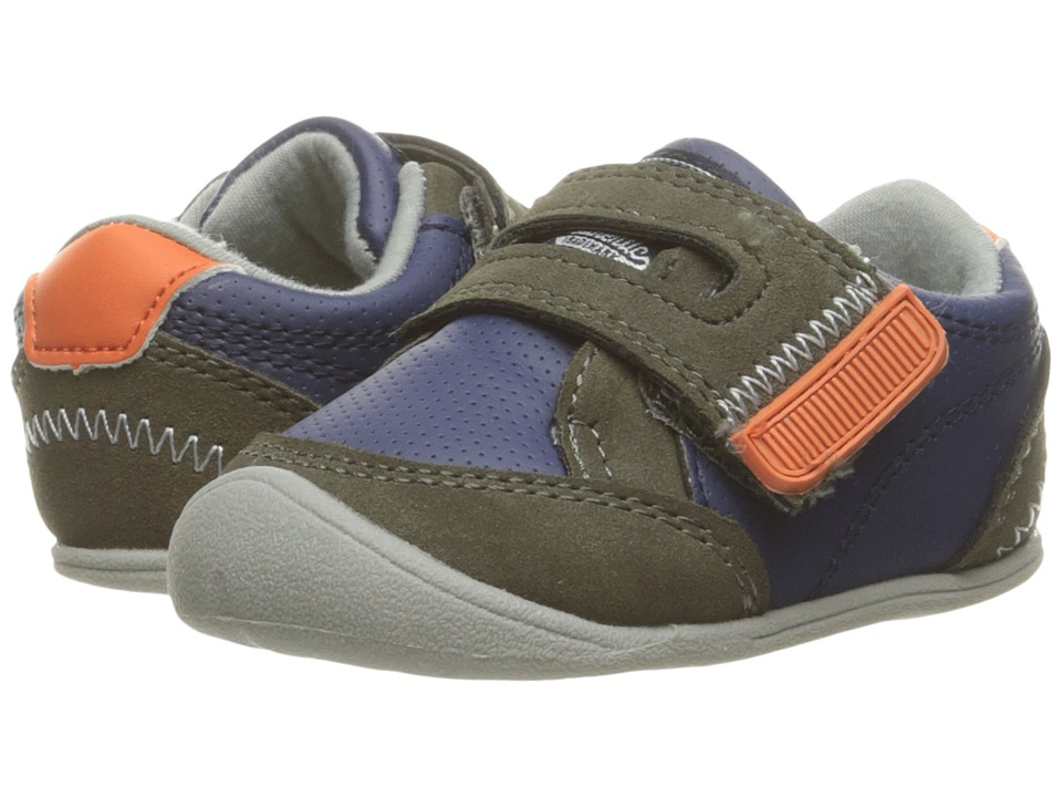 Carters - Taylor CB (Infant) (Navy/Gray/Orange) Boy's Shoes