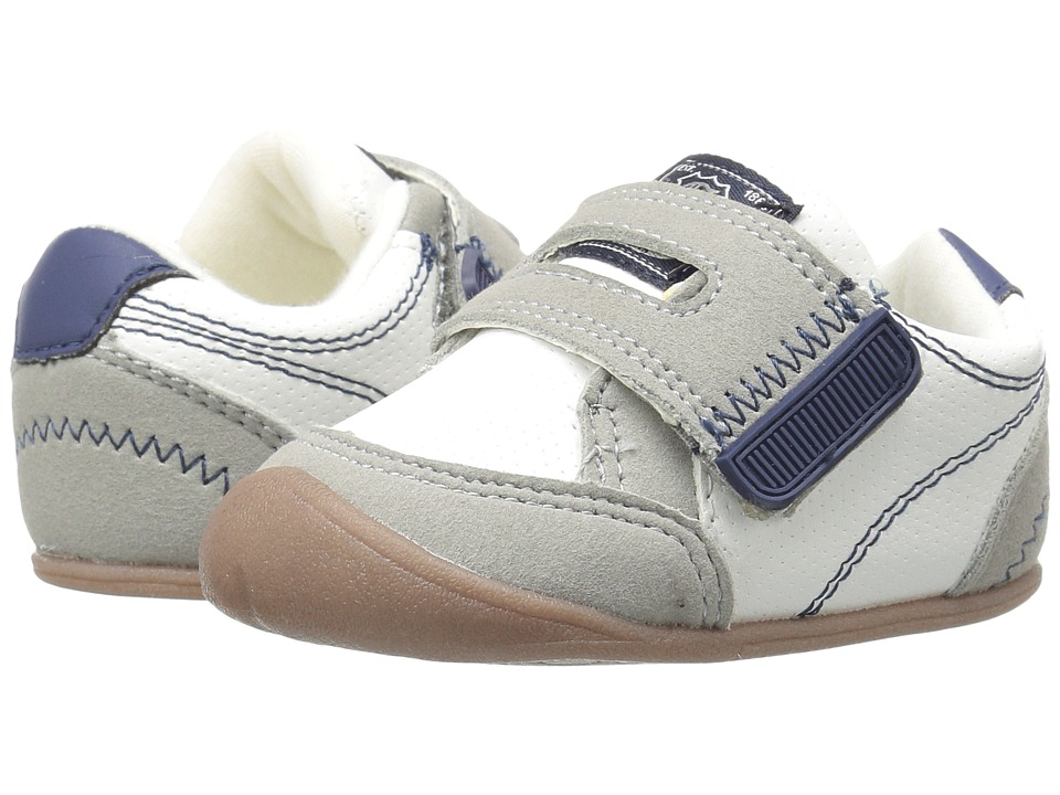 Carters - Taylor CB (Infant) (White/Gray/Navy) Boy's Shoes