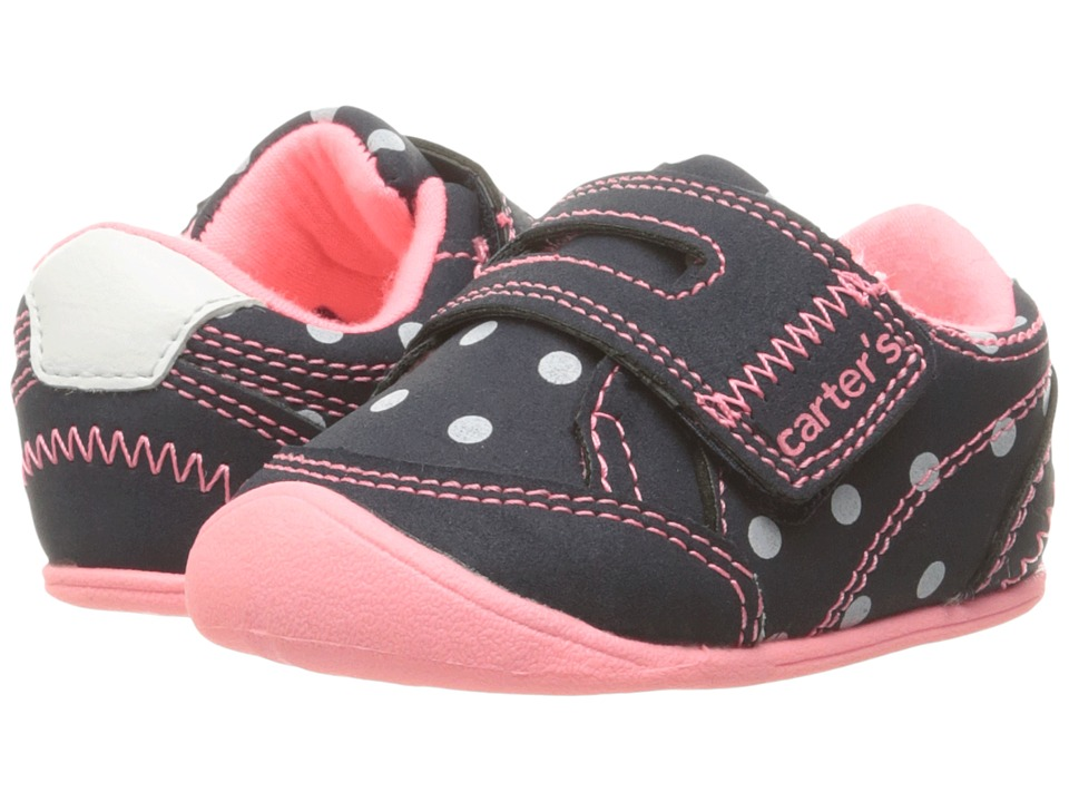 Carters - Taylor CG (Infant) (Navy/Pink/White) Girl's Shoes