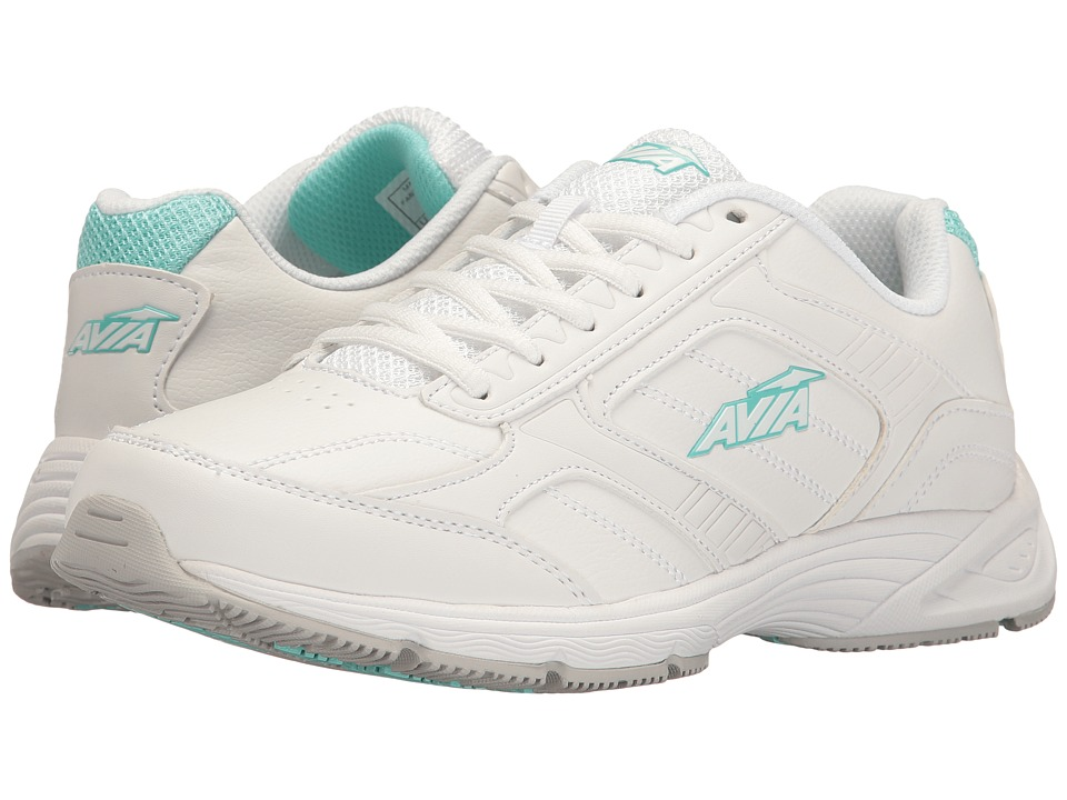 Avia Avi-Ginger (White/Cool Mist Grey/Aruba Aqua) Women