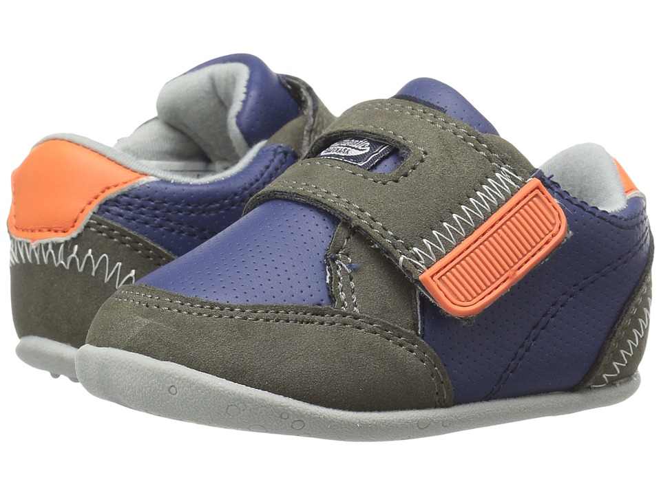 Carters - Taylor SB (Infant/Toddler) (Navy/Gray/Orange) Boy's Shoes