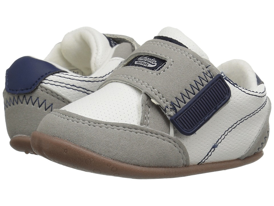Carters - Taylor SB (Infant/Toddler) (White/Gray/Navy) Boy's Shoes