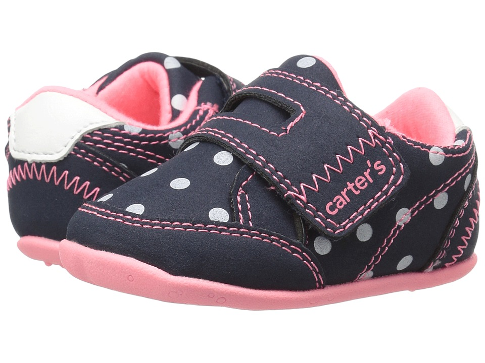 Carters - Taylor SG (Infant/Toddler) (Navy/Pink/White) Girl's Shoes