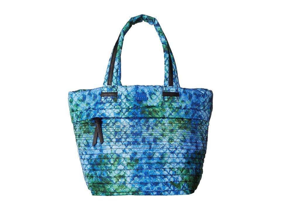 Steve Madden - Brova Horizontal Quilt Tote (Blue Multi) Tote Handbags