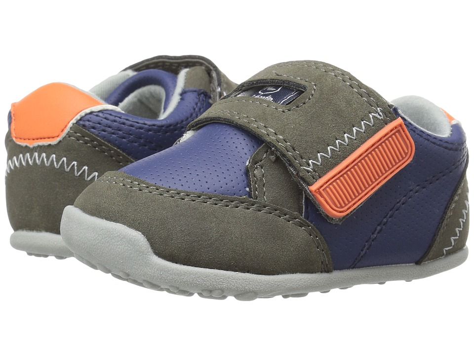 Carters - Taylor WB (Toddler) (Navy/Gray/Orange) Boy's Shoes