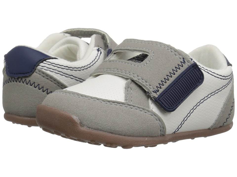 Carters - Taylor WB (Toddler) (White/Gray/Navy) Boy's Shoes