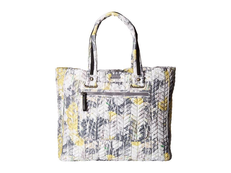 Steve Madden - Bsportie Chevron Quilt Nylon Tote (Citron) Tote Handbags