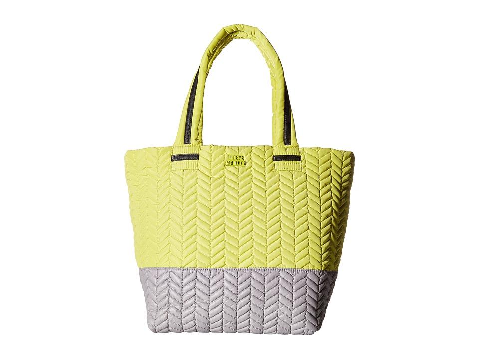 Steve Madden - Broverc Tote (Citron/Pewter) Tote Handbags