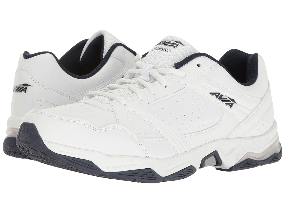 Avia - Avi-Rival (White/True Navy/Chrome Silver) Men's Shoes