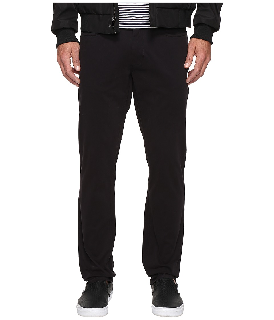 Kenneth Cole Sportswear - Slim Five-Pocket Pants (Black) Men's Casual Pants
