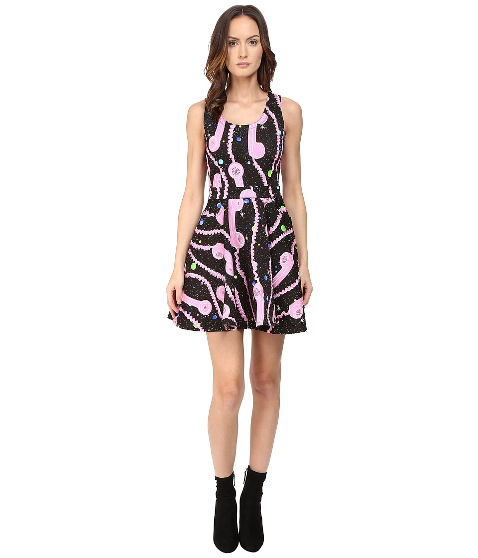 Jeremy Scott - Phone Print Gabardine Dress (Multi) Women's Dress