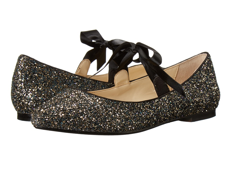 Blue by Betsey Johnson - Lia (Black Glitter) Women's Flat Shoes