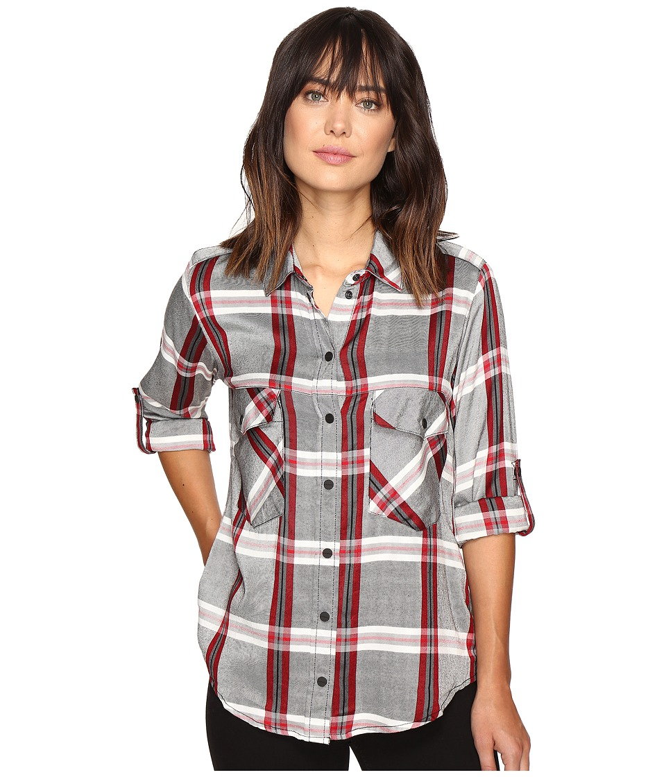 Sanctuary - Boyfriend Shirt (Cobain Plaid) Women's Clothing