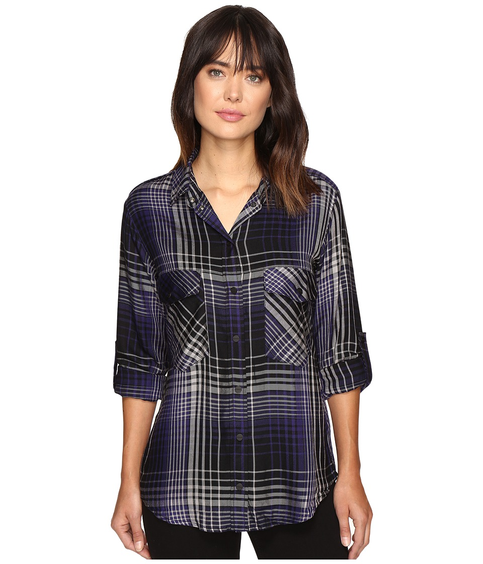 Sanctuary - Boyfriend Shirt (Smith Plaid) Women's Clothing