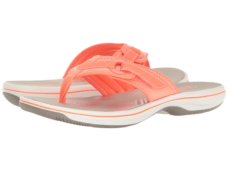 Clarks - Breeze Mila (Bright Orange) Women's Shoes
