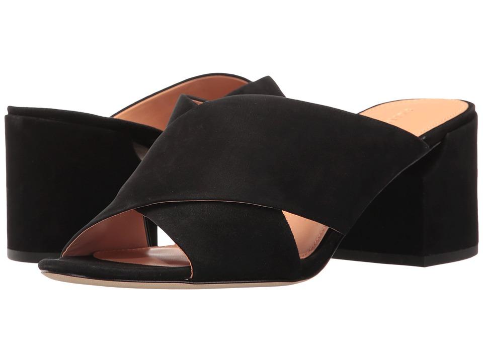 Sigerson Morrison - Rhoda (Black Kid Suede/Cork Heel) Women's Shoes