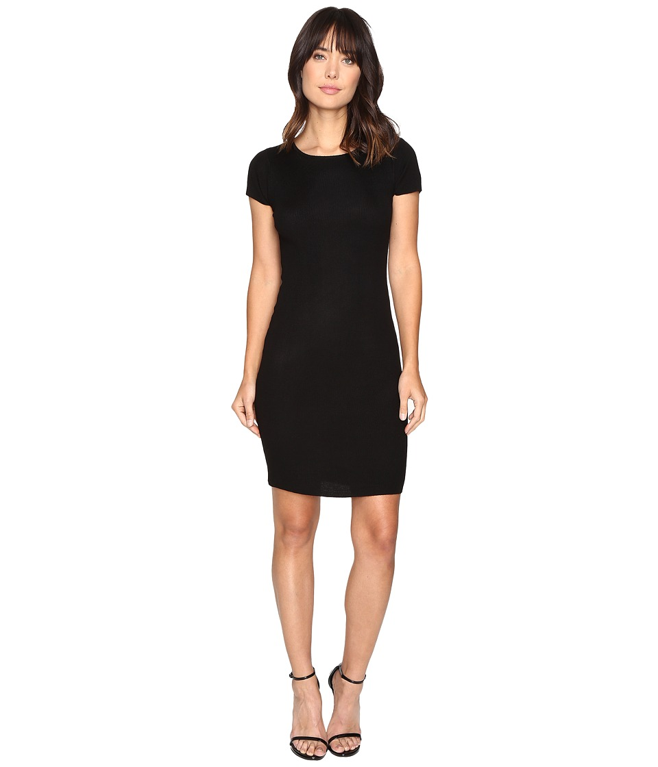 Culture Phit - Germaine Ribbed Bodycon Sweater Dress (Black) Women's Dress