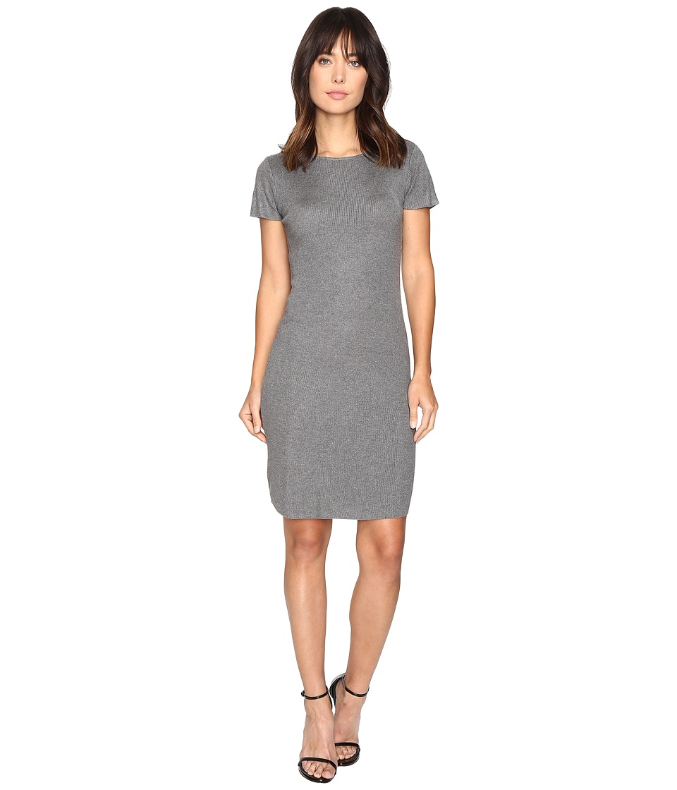 Culture Phit - Germaine Ribbed Bodycon Sweater Dress (Grey) Women's Dress
