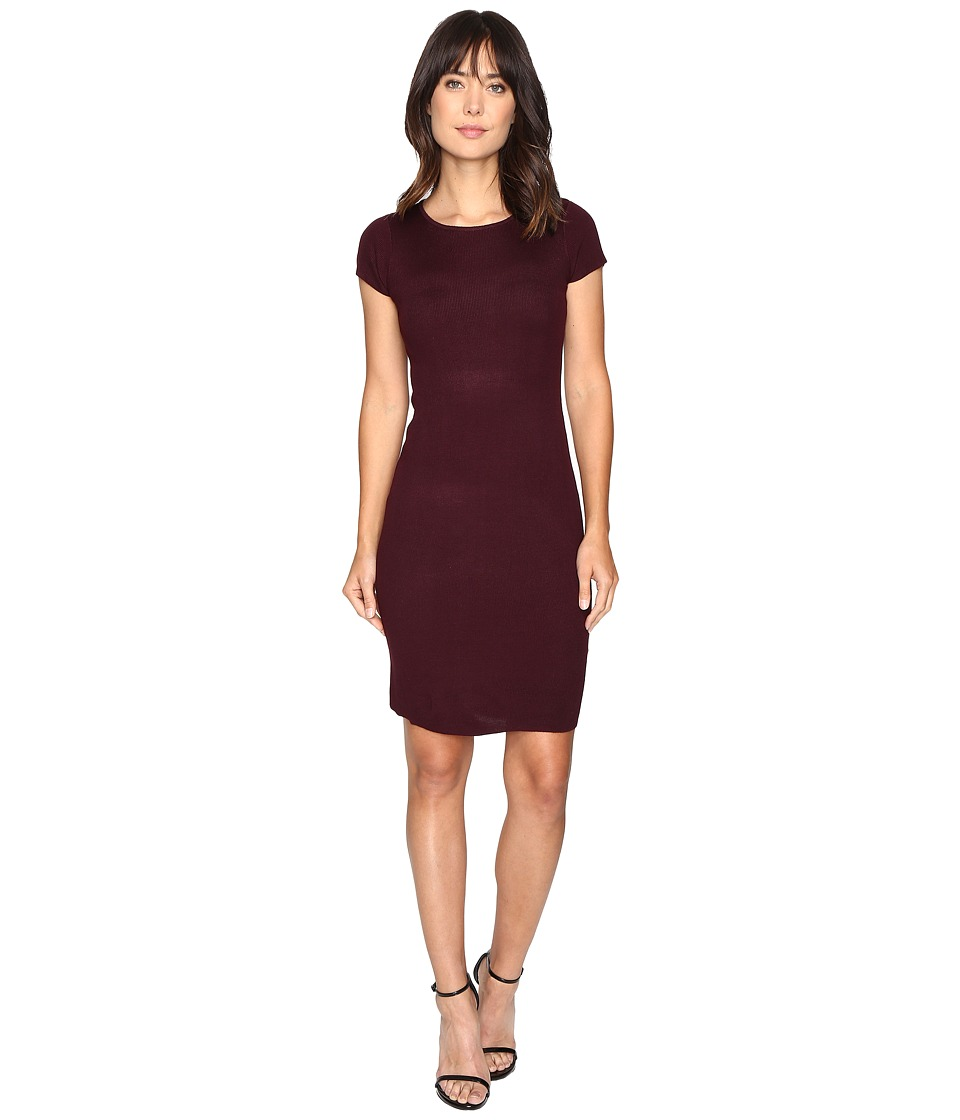 Culture Phit - Germaine Ribbed Bodycon Sweater Dress (Plum) Women's Dress