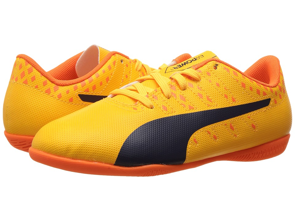 Puma Kids evoPower Vigor 4 IT Jr Soccer (Little Kid/Big Kid) (Ultra Yellow/Peacoat/Orange Clown Fish) Kids Shoes