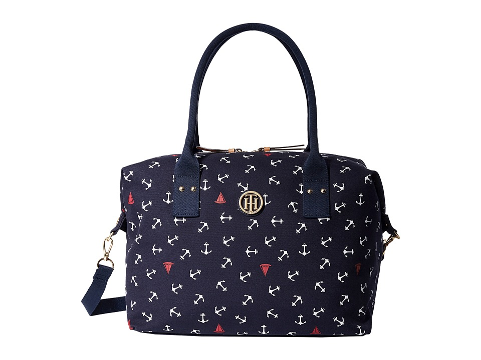 Tommy Hilfiger - Ali - Printed Canvas Weekender (Navy) Weekender/Overnight Luggage