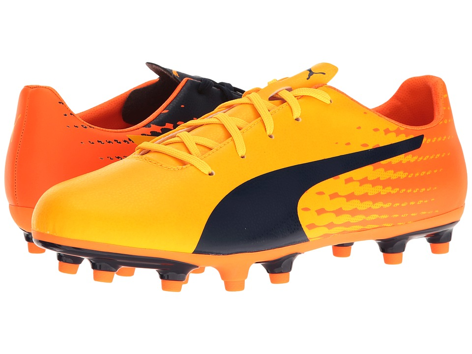 Puma Kids - evoSPEED 17.5 FG Jr (Little Kid/Big Kid) (Ultra Yellow/Peacoat/Orange Clown Fish) Kids Shoes