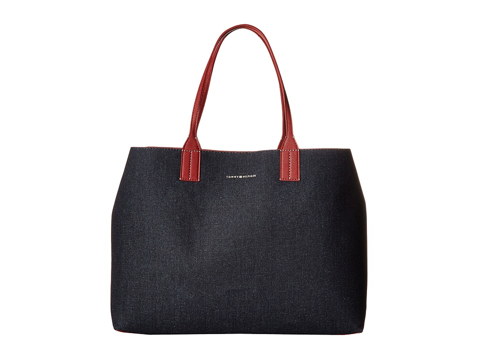 Tommy Hilfiger - TH Reversible Tote (Denim/Red) Tote Handbags