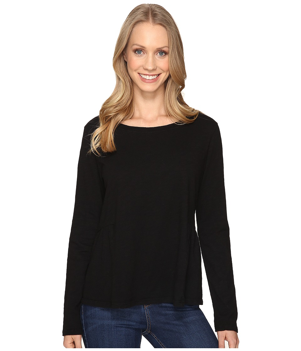 Sanctuary - Off-Duty Long Sleeve Tee (Black) Women's T Shirt