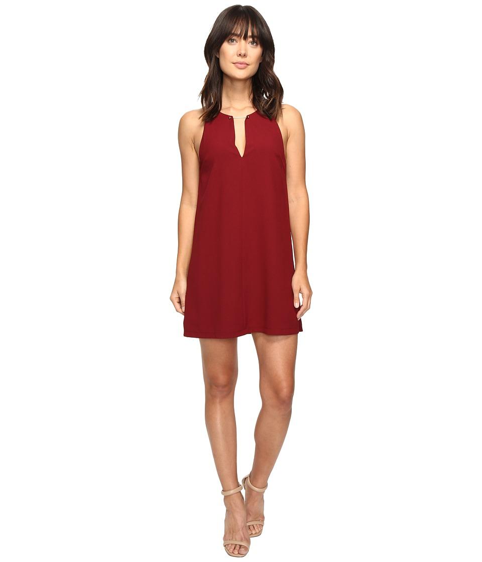 Brigitte Bailey - Davetta Sleeveless Dress with Gold Bar (Dark Red) Women's Dress