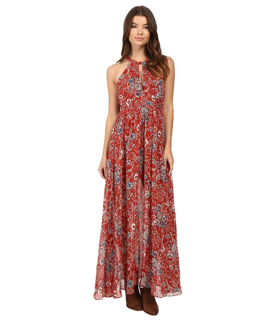 Brigitte Bailey - Rashida High Neck Maxi Dress (Red Print) Women's Dress