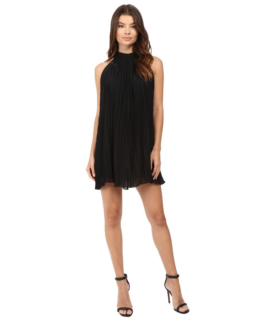 Brigitte Bailey - Neri High Neck Accordion Dress (Black) Women's Dress