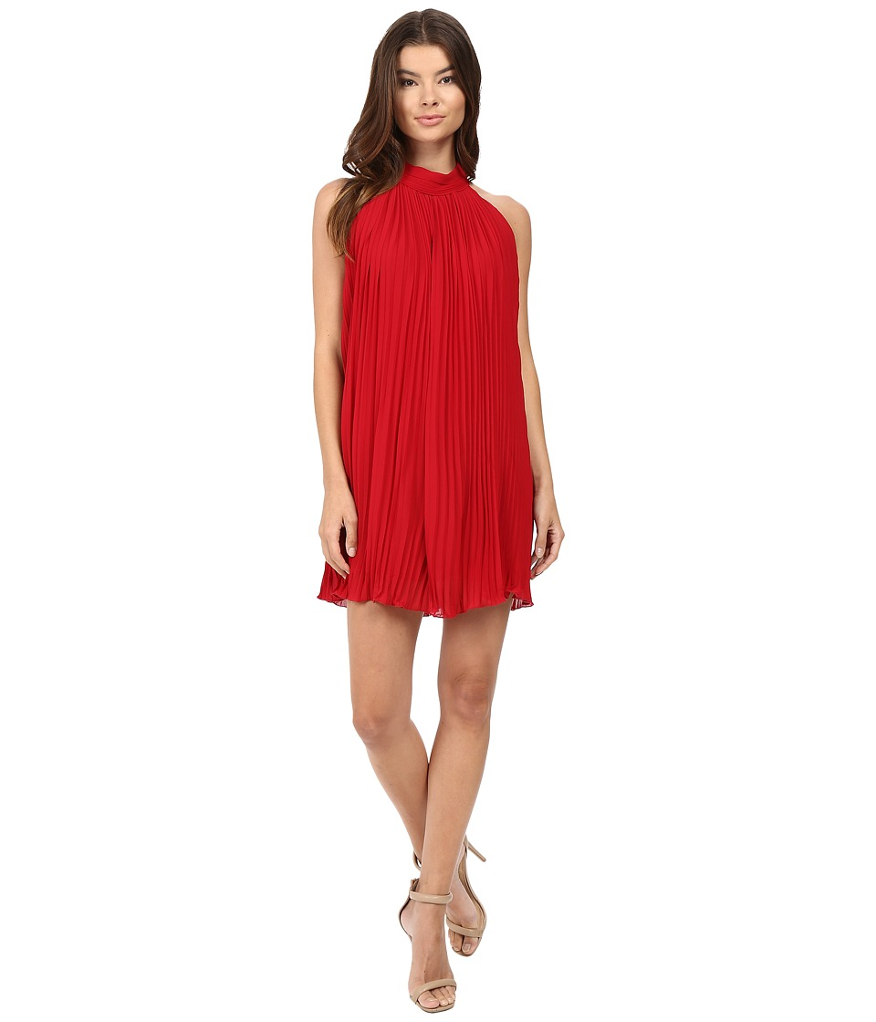 Brigitte Bailey - Neri High Neck Accordion Dress (Red) Women's Dress