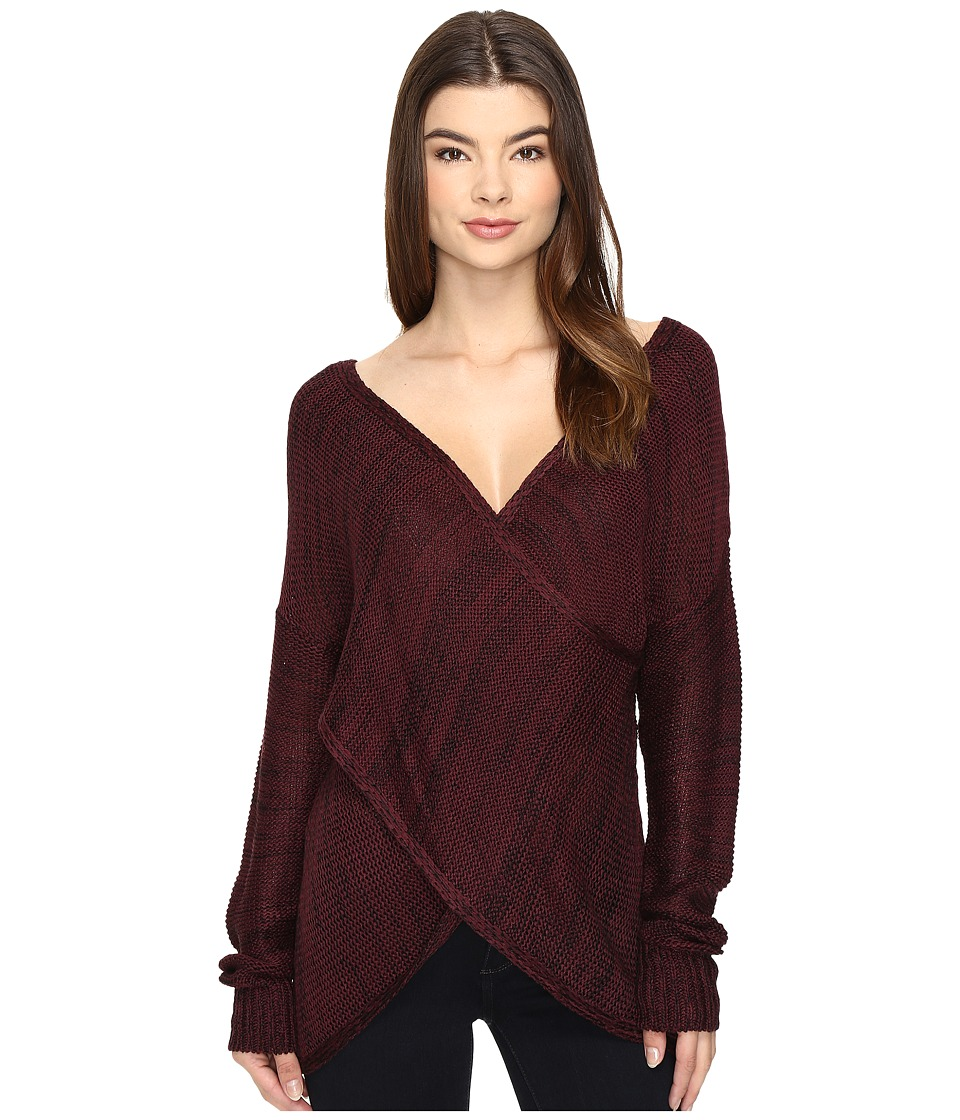 Brigitte Bailey - Stacia Pullover Sweater (Plum) Women's Sweater