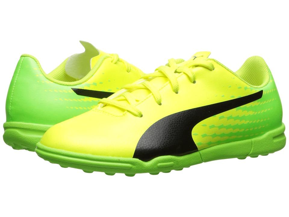 Puma Kids - evoSPEED 17.5 TT Jr Soccer (Little Kid/Big Kid) (Safety Yellow/Puma Black/Green Gecko) Kids Shoes