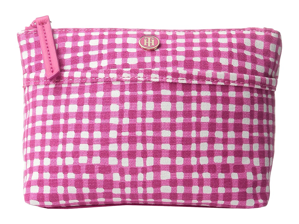 Tommy Hilfiger - Cosmetic Case Printed Canvas (Fuchsia/Multi) Cosmetic Case