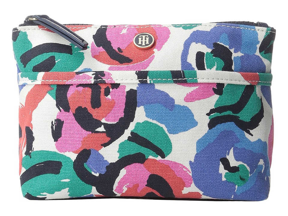 Tommy Hilfiger - Cosmetic Case Printed Canvas (Rose/Multi) Cosmetic Case