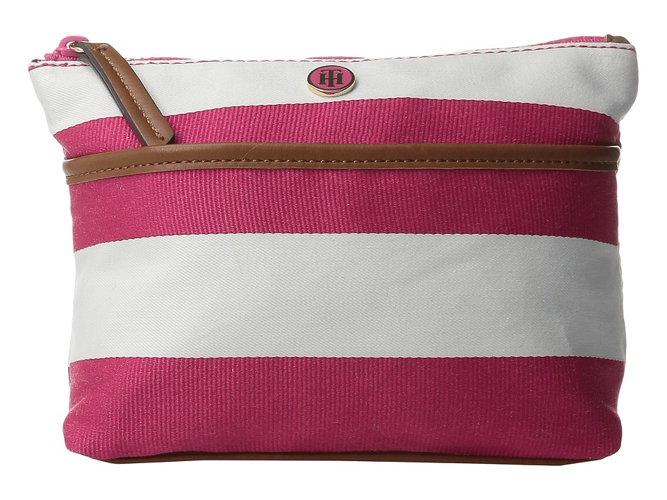 Tommy Hilfiger - Cosmetic Case Ribbon Rugby (Fuchsia/White) Cosmetic Case