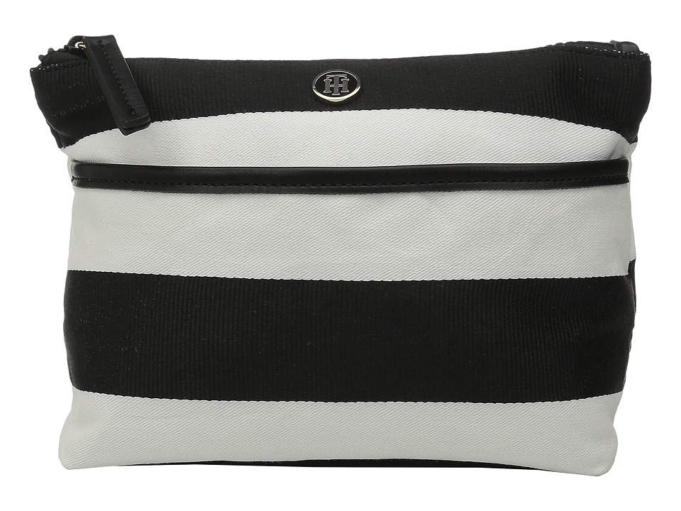 Tommy Hilfiger - Cosmetic Case Ribbon Rugby (Black/White) Cosmetic Case