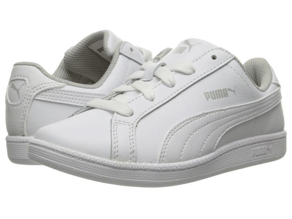 Puma Kids Smash Fun L PS (Little Kid/Big Kid) (White/White) Kids Shoes