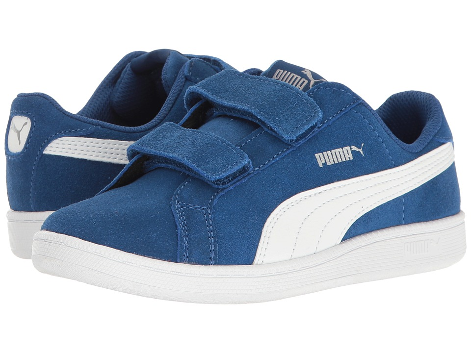 Puma Kids - Smash Fun SD V PS (Little Kid/Big Kid) (True Blue/Puma White) Kids Shoes