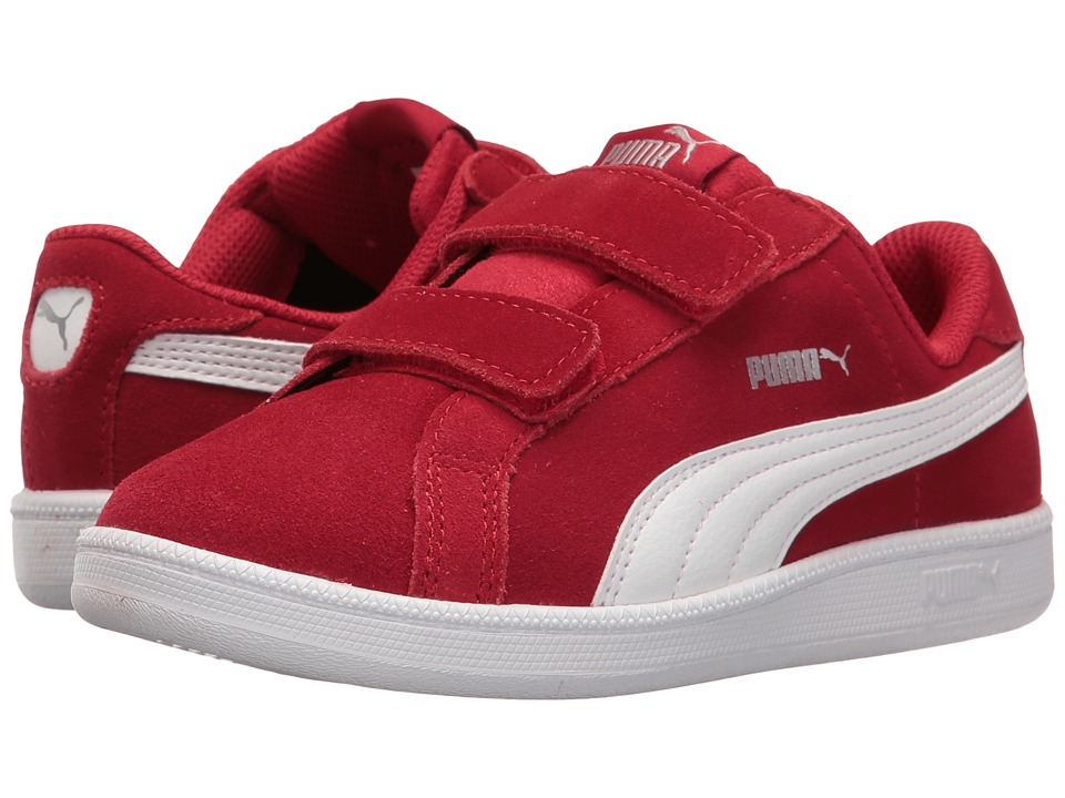 Puma Kids - Smash Fun SD V PS (Little Kid/Big Kid) (Barbados Cherry/Puma White) Kids Shoes