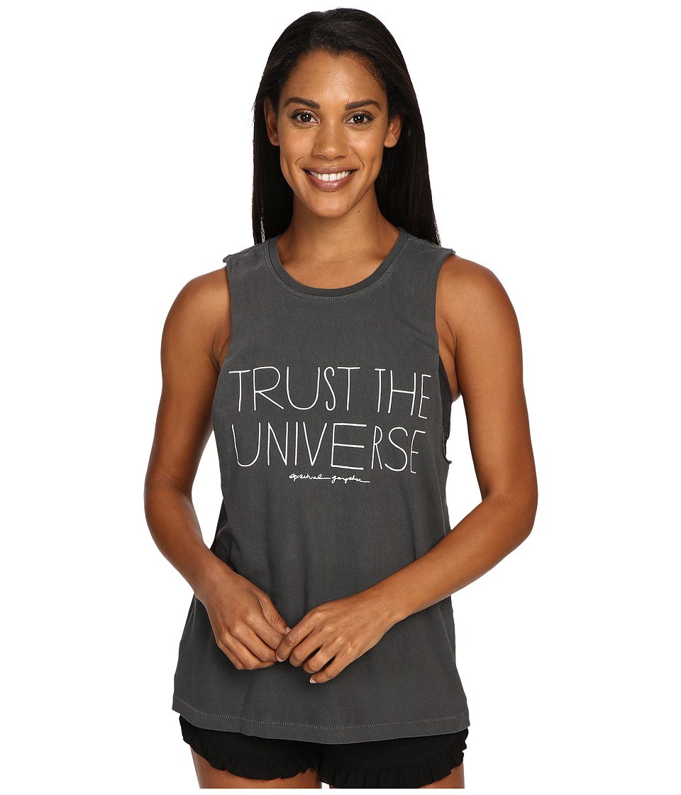 Spiritual Gangster - Trust The Universe Tank (Vintage Black) Women's Workout