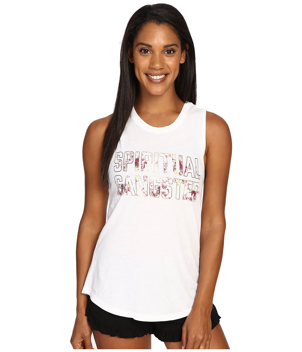 Spiritual Gangster - SG Summer Floral (White) Women's Workout