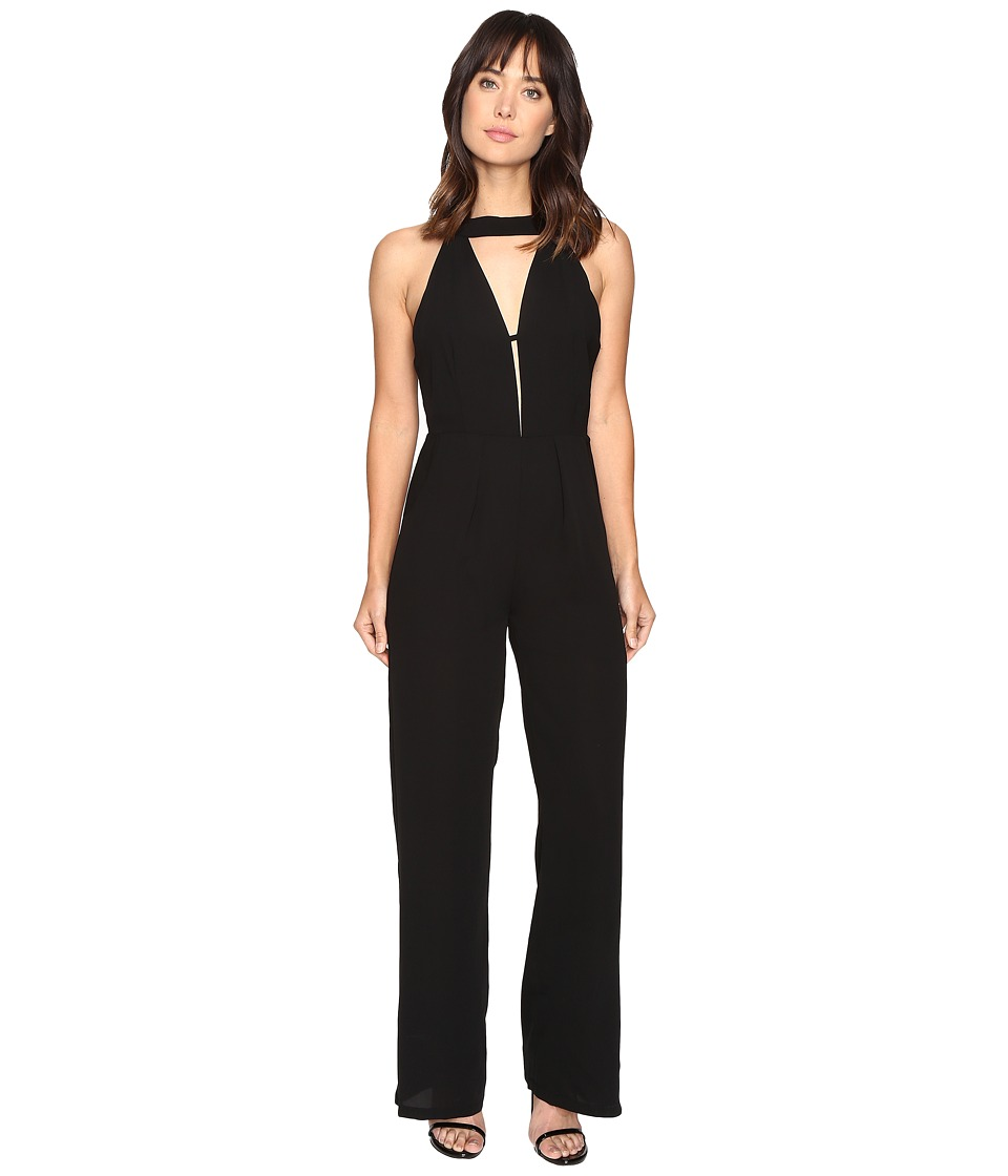 Brigitte Bailey - Timea High Neck Jumper with Keyhole (Black) Women's Jumpsuit & Rompers One Piece