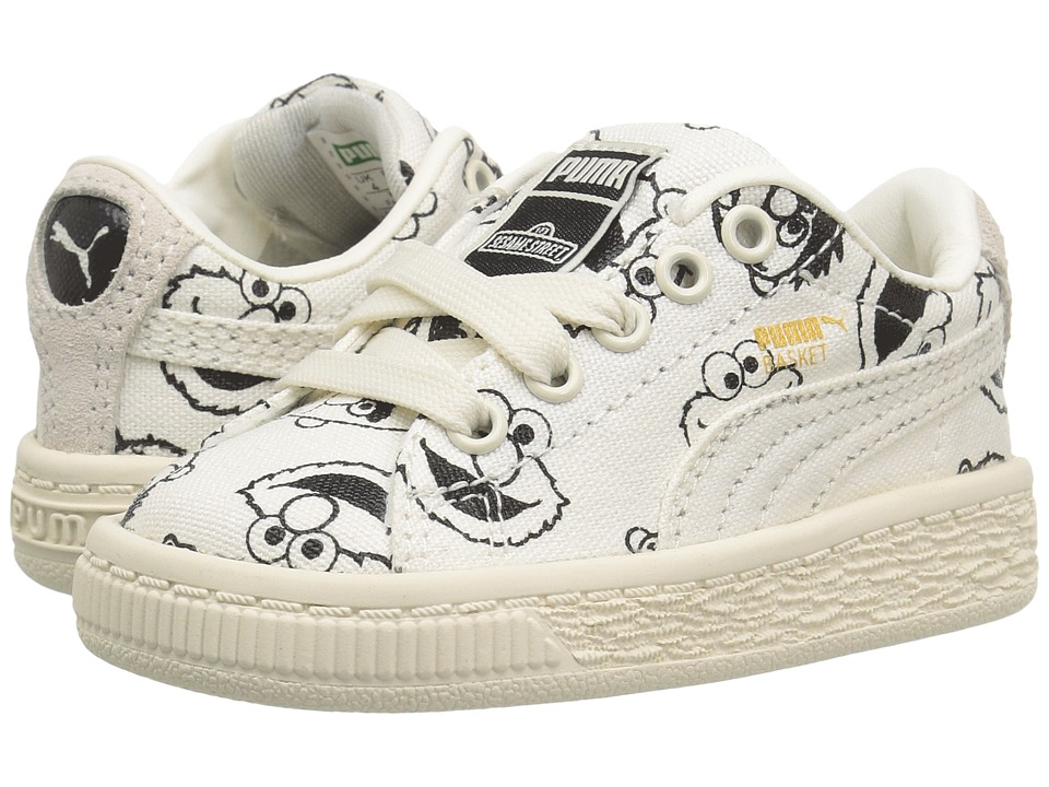 Puma Kids - X Sesame Street Basket INF (Toddler) (Star White/Star White) Kids Shoes